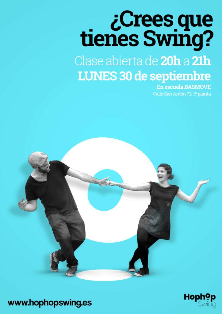 Clase abierta Swing, aprende a bailar con la academia hophopswing