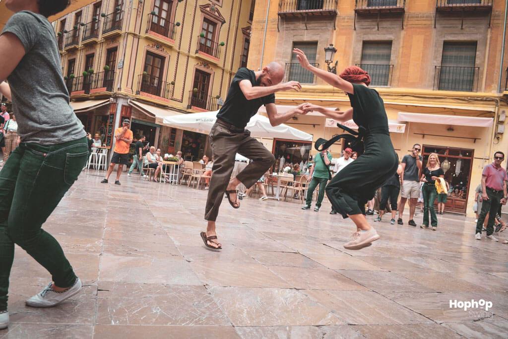 Bailando swing en granada