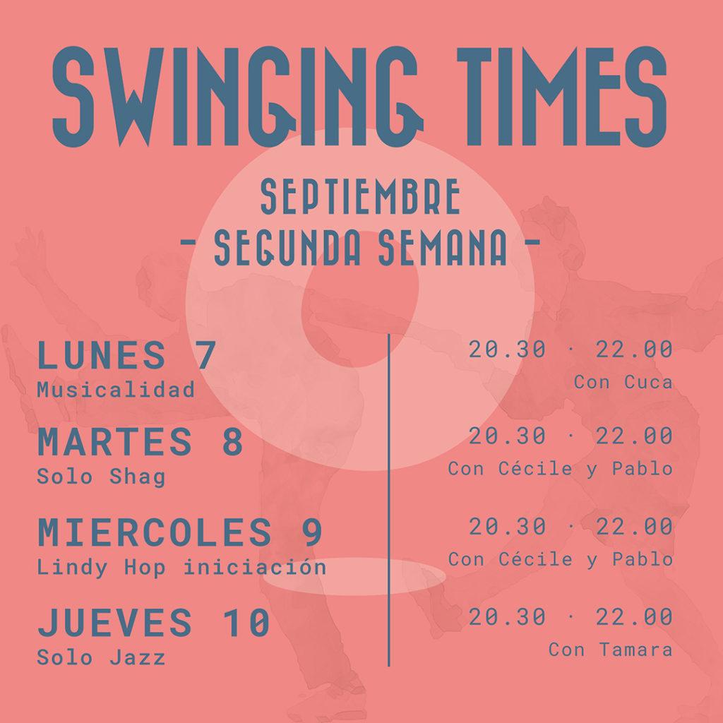 Talleres Swing Septiembre. Baila Swing con Hop Hop swing.